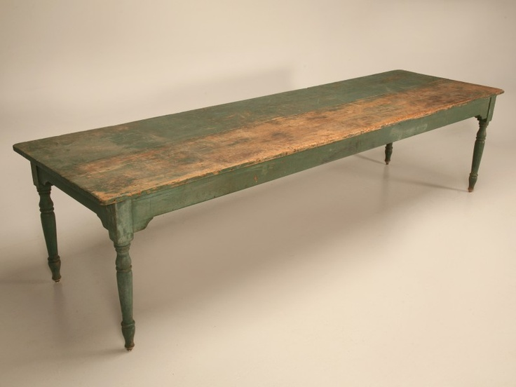 Antique American Pine 10 Foot Harvest Table