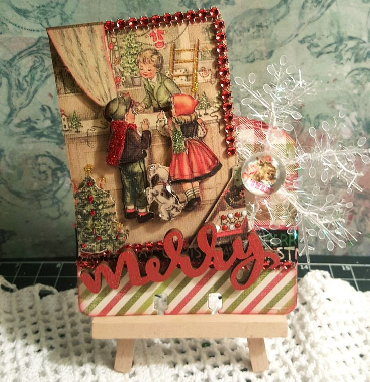 Merry By Angela Velazquez #rolodex #memorydex #Vintage #Shabby