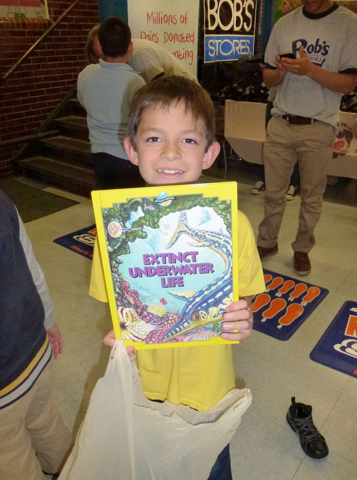 Students received BOBS and a new book of their choice, donated through the Read Boston literacy program.