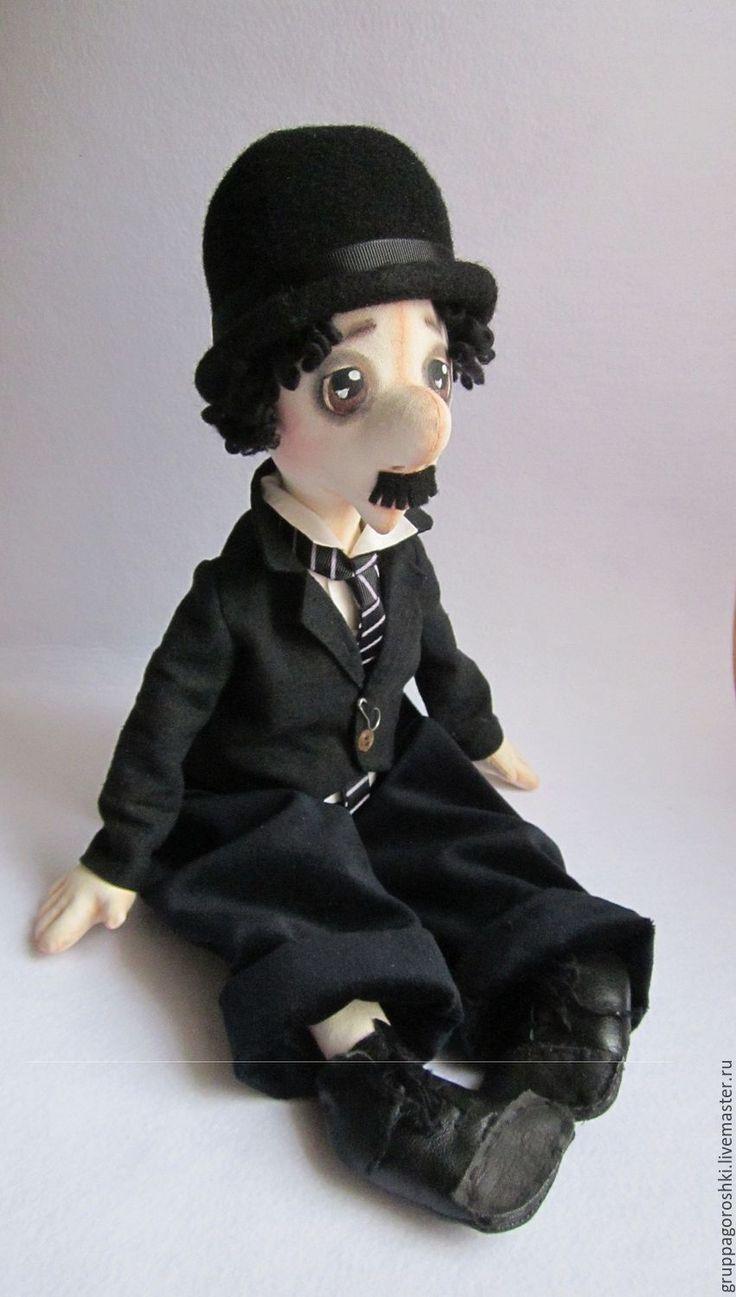 Купить Чарли Чаплин. Декоративная кукла ручной работы - Чарли Чаплин, чарли чаплин кукла