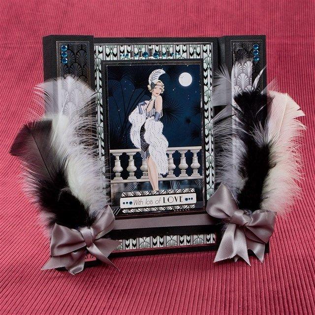 Art Deco Colonnade Card   docrafts.com