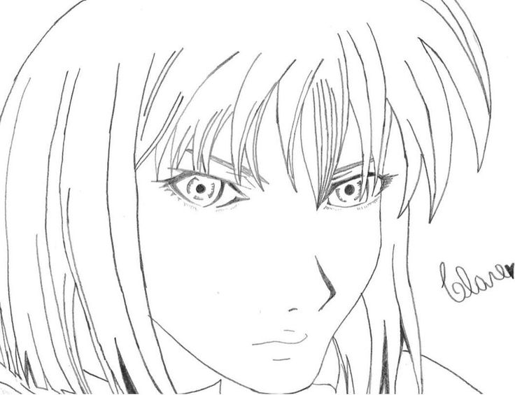 Clare from Claymore. A draw I made some years ago.