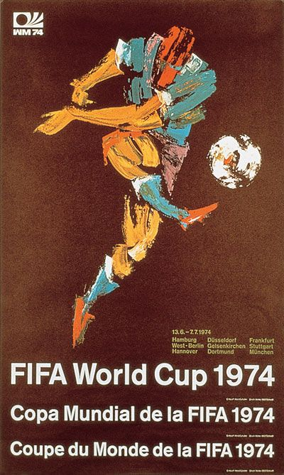 World Cup 1974 Germany Official Poster