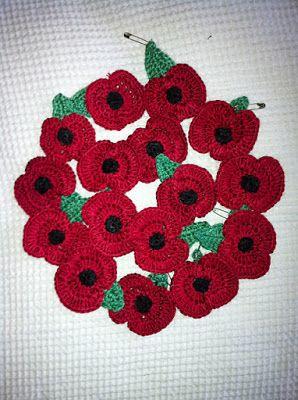 Poppy Flower - Crochet Crafty Ideas ( Free Pattern)