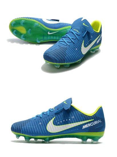 Neymar Nike Mercurial Vapor 11 FG Football Shoes - Blue White Chuteiras 4e40be91157c8