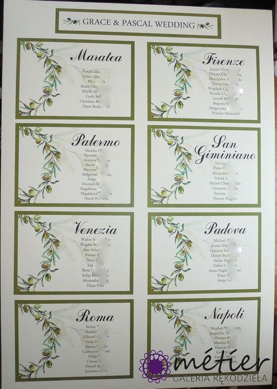 Zaproszenia ślubne www.metier.pl: Oliwkowe weselenaklejki na ubrania dla gości z imionami