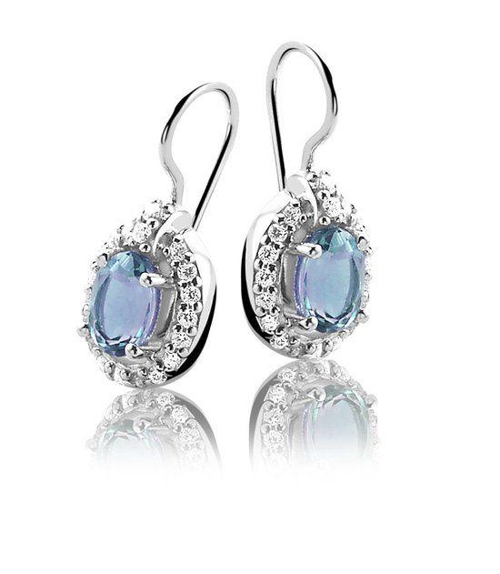 Orphelia Oorbel Blue Topaz Zirconium Sterling Zilver 925