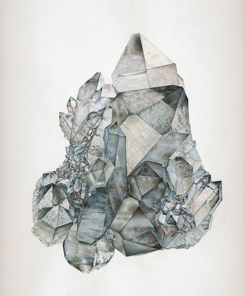 crystal illustration by Marija Nabernik