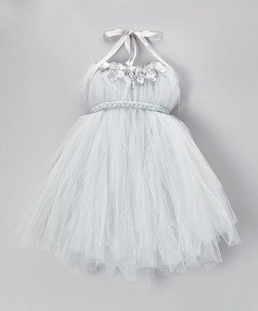 Silver Tulle Tutu Dress