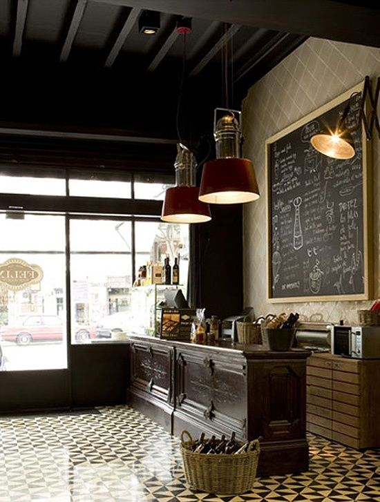 The atmosphere and tonal qualities of old cafes and bars inspire my thoughts on decor for the French Quarter home...