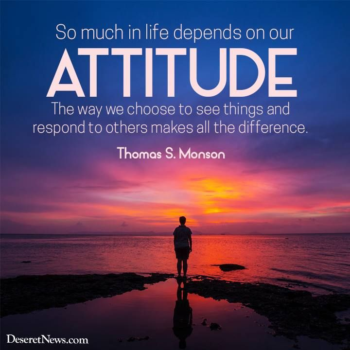 quotso much in life depends on our attitude the way we