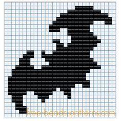 Bat Halloween Perler Bead Pattern