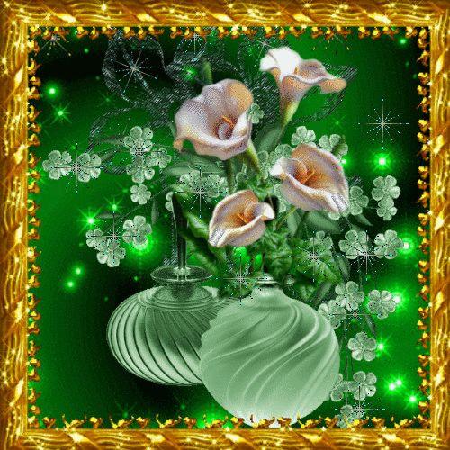Мерцающие и движущиеся открытки с цветами, картинки