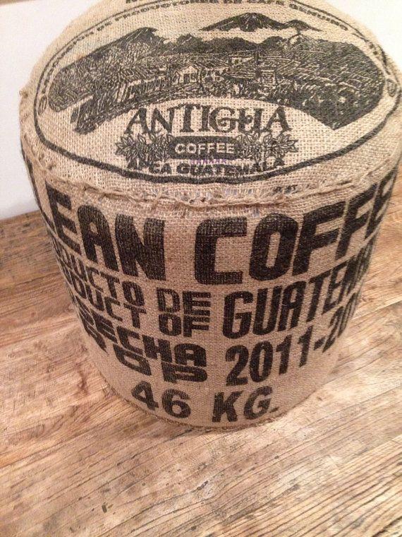 Upcycled Coffee Bag Ottoman (Antigua) on Etsy, $69.00 AUD