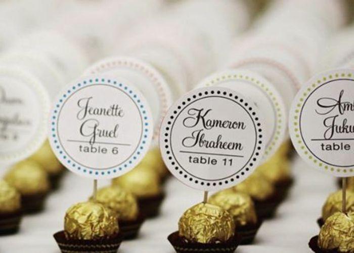 instagramでみつけた花嫁DIY♩披露宴に必須のかわいい席札デザイン15選* | marry[マリー]