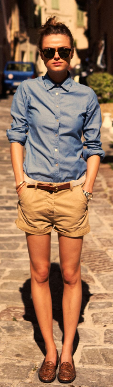 A very smart tomboy outfit. Photography via Scotch and Soda