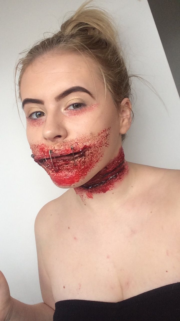 Full look I did today #sfx #blood #cuts #mua #makeupartistry #dead