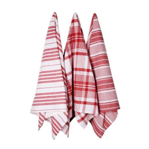 With summer feasts comes an influx of dishes to dry and spills to clean up. Dry and clean in style with these jumbo kitchen towels. Hand-woven in India, the set includes three towels, each boasting a d...  Find the Red Berry Striped Kitchen Towels - Set of 3, as seen in the Industrial Rooftop Soirée Collection at http://dotandbo.com/collections/industrial-rooftop-soiree?utm_source=pinterest&utm_medium=organic&db_sku=DNB0010