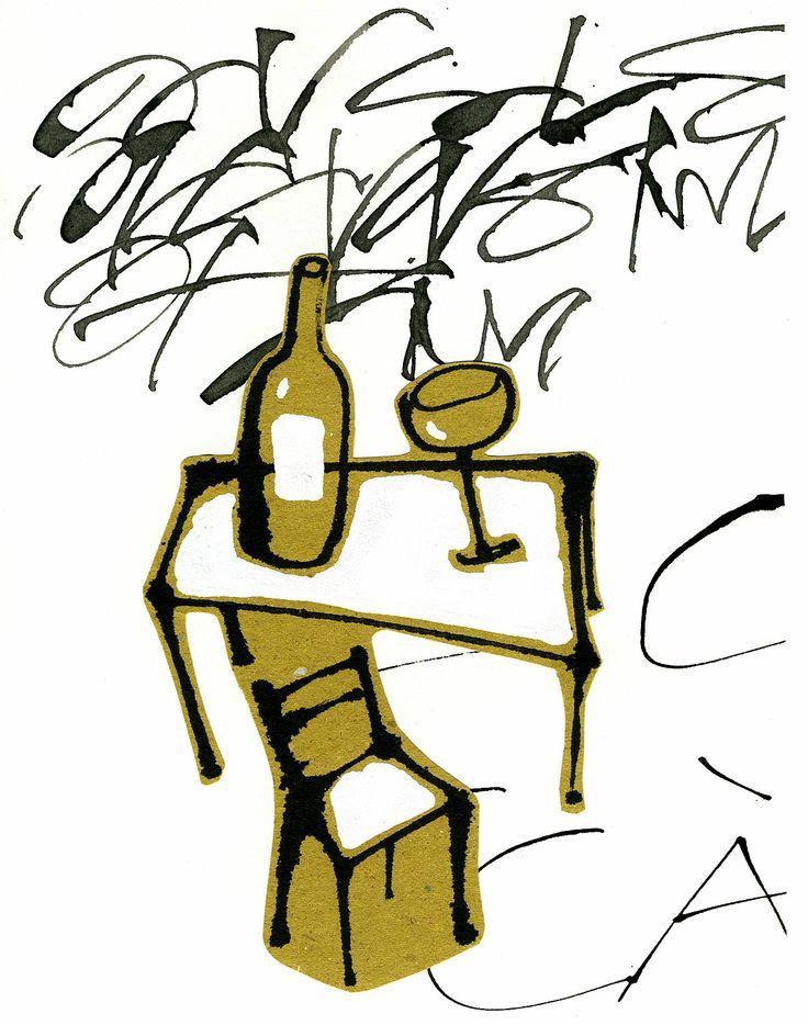 #marcocampedelli #table #wine #food #vision #handwriting