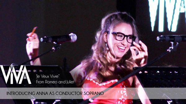 "Introducing Anna as Conductor Soprano in ViVA's ""Je veux vivre"" https://www.youtube.com/watch?v=PJlccycq2pI"