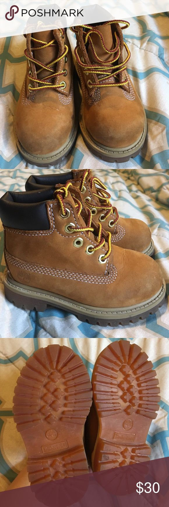 Toddler Timberland boots Brown waterproof boot for toddler in great condition with a lot of tread left Timberland Shoes Boots