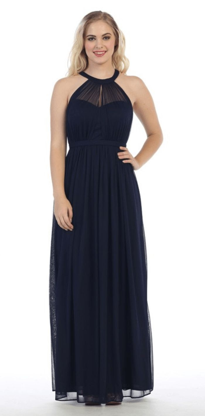 CELEBRATE THE MOMENT NAVY BLUE MAXI DRESS