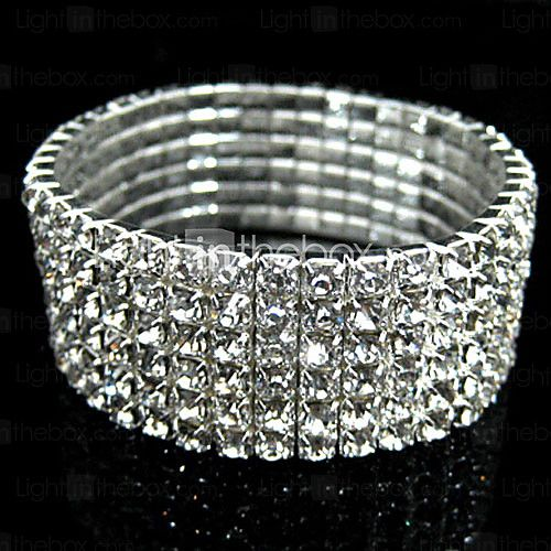 Women's Elastic Rhinestone Bridal Jewelry Bracelet 2017 - kr.35