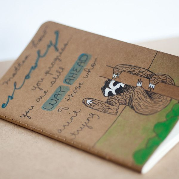Sloth Notebook From Le Animalé