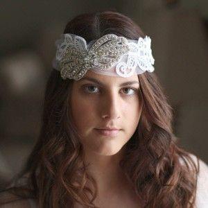 Bridal Headpiece - Avalon www.shellarndesign.com.au
