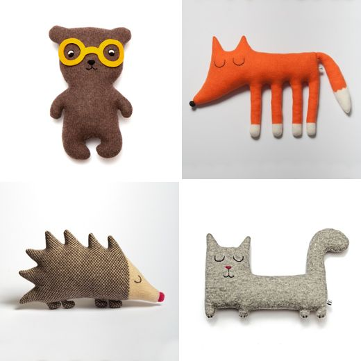 Lambswool Plush Toys by Sara Carr