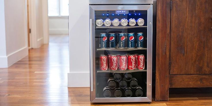 Choose The EdgeStar 80 Can Built-In Beverage Cooler With Stainless Steel Trimmed Door For All Your Home, Apartment, And Office Needs