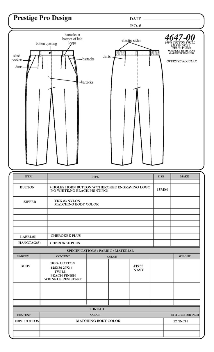 Cad For Fashion Design Flat Working Drawings Pinterest