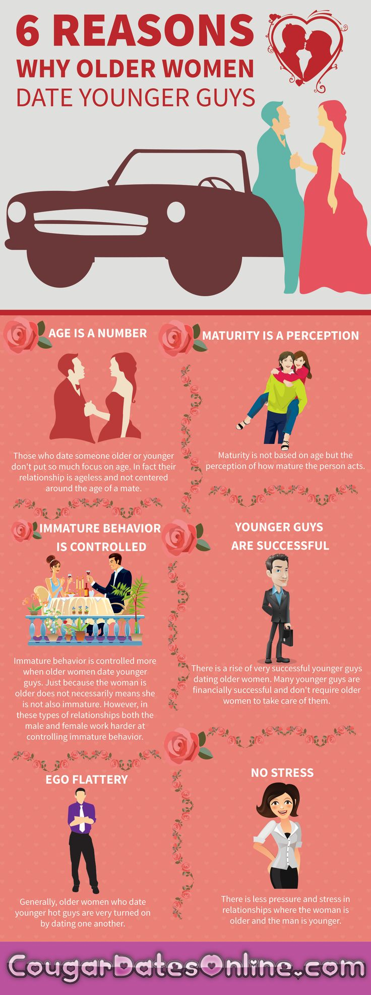Top 6 reasons why older women date younger men