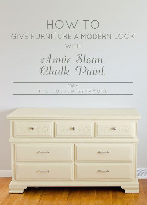 How to Give Old Furniture a Modern Look with Chalk Paint. 29 best Paint Furniture images on Pinterest   Furniture  DIY and