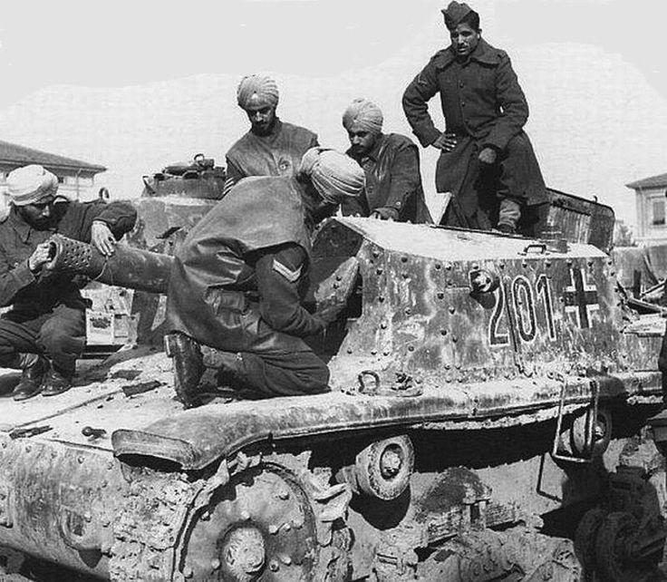 World War II in Pictures — British Indian Division captures Italian Semovente