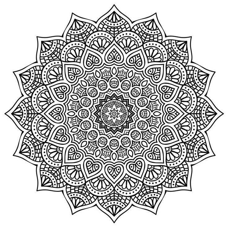 High Resolution Mandala Coloring For Stress Relief Free Download PDF Format Happiness Never Decreases