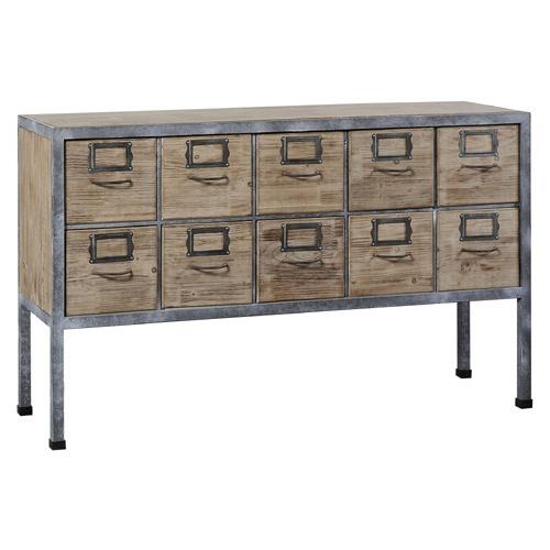 Buffet 10 tiroirs Loft en bois et métal Jardin d'Ulysse- 135.42.81 - 549€ - existe chiffonnier coordonné - decoclico.fr