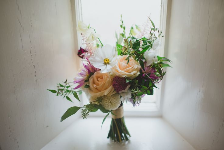 The Queensferry Flower Company. A gorgeous summer bouquet for a beautiful bride at Dalmeny Church. We even got to use some flowers from our own flower garden. Photography by www.taralillyphotography.com