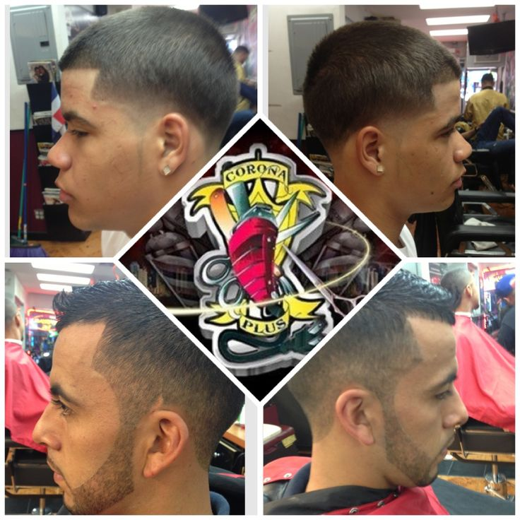 Top skin taper bottom frohawk fade with beard
