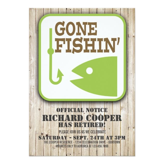 1341 best retirement party invitations images on pinterest gone fishin retirement party invitation stopboris Gallery