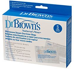 Dr Brown's Microwave Steriliser Bags available online at http://www.babycity.co.uk/