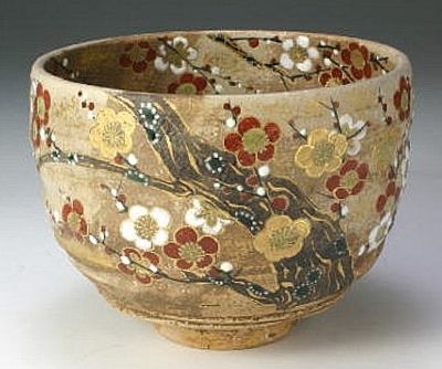 International shipping from Japan, international shipping - Kyoto Kiyomizu pottery plum of incense tea bowl: JCRAFTS.com of overseas mail order