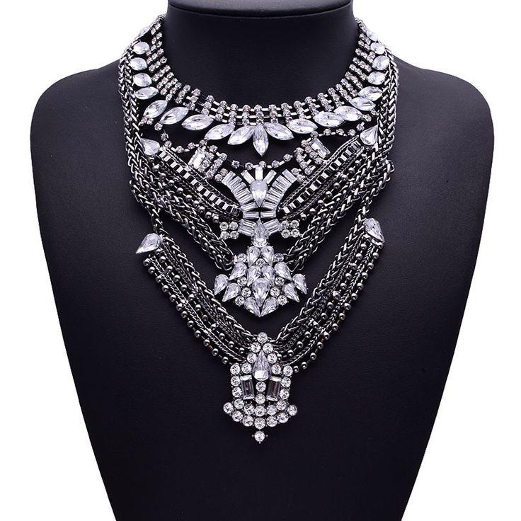 Купить 2015 горячая богемия женщины большие ожерелья мода стразы винтаж металл колье заявление ожерелья и кулоны ожерелье ювелирные изделияи другие товары категории Кольев магазине Fashion--Shopping--MallнаAliExpress. ювелирные изделия настройки подвески и кулону