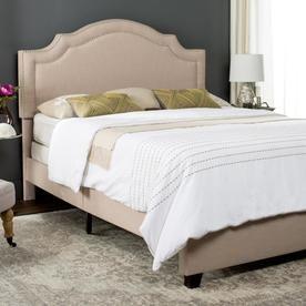 Safavieh Theron Light Beige Queen Bed Frame Fox6211b-Q