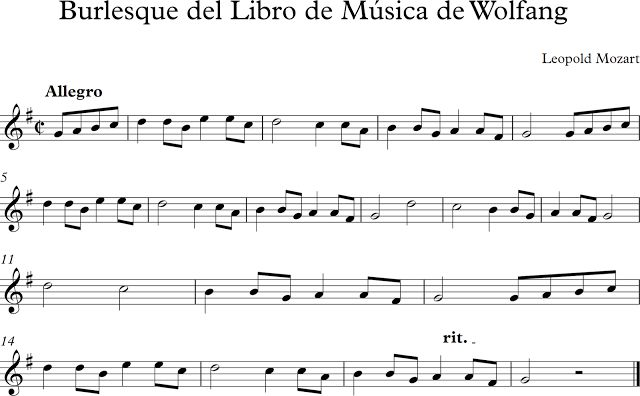 Descubriendo la Música. Partituras para Flauta Dulce o de Pico.: Burlesque del…