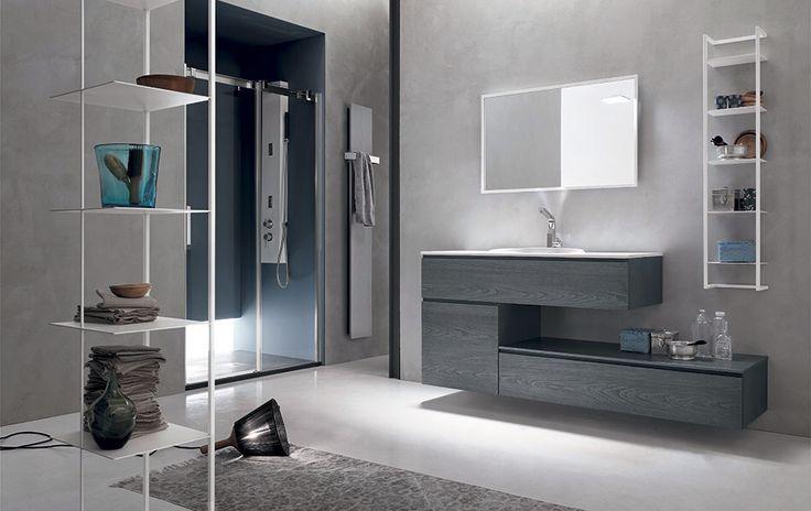 Mobile bagno legno specchio bathroom furniture scaffale from bagnoarredobacco.it