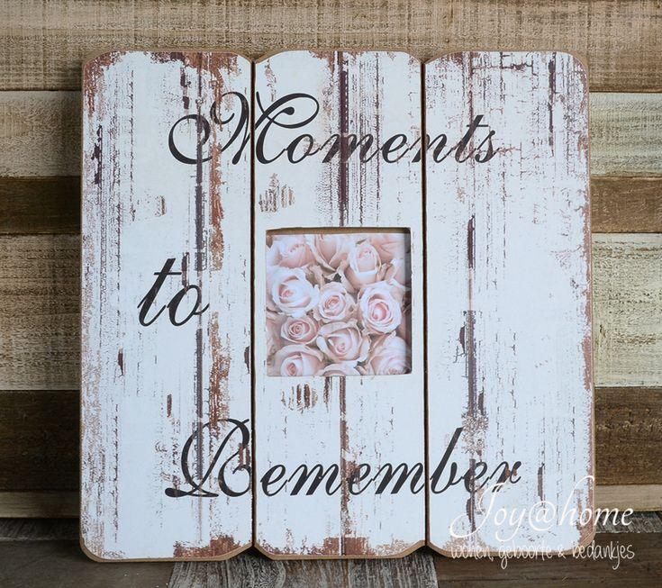 fotolijstje wit houten planken Moments to Remember