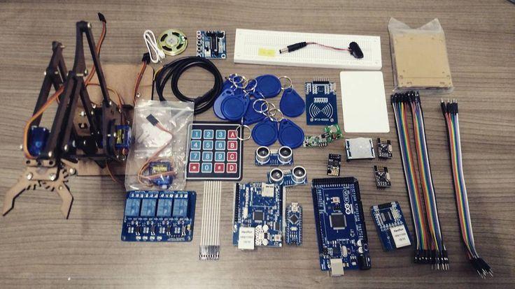 Bom dia pessoal! As ofertas de hoje são:  Arduino Mega 2560 R3  Cabo USB - R$ 110 Arduino Nano 3.0  Cabo USB - R$ 45 Kit cabo jumper macho-macho 20 unid - R$ 15 Kit cabo jumper macho-fêmea 20 unid - R$ 15 Kit cabo jumper fêmea-fêmea 20 unid - R$ 15 Braço Robótico em MDF para Arduino - R$ 30 (servos motores não inclusos) Micro servo motor 9g Tower Pro - R$ 19 Módulo WiFi ESP8266 - R$ 27 Sensor de Movimento Presença PIR - R$ 18 Kit Módulo Leitor Rfid Mfrc522 Mifare (leitor  1 cartão  1…