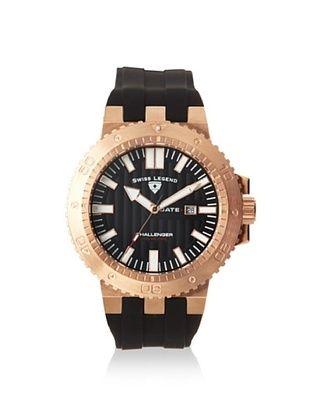 Swiss Legend Men's 10126-RG-01 Challenger Black Textured Dial Silicone Watch