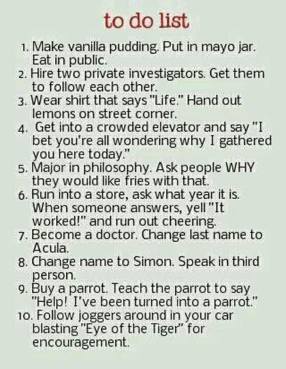I want to do all these things!
